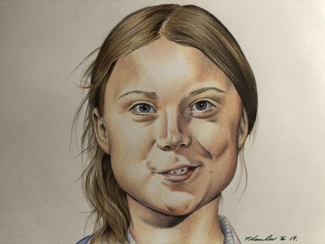 Greta Thunberg par TraceyLawler